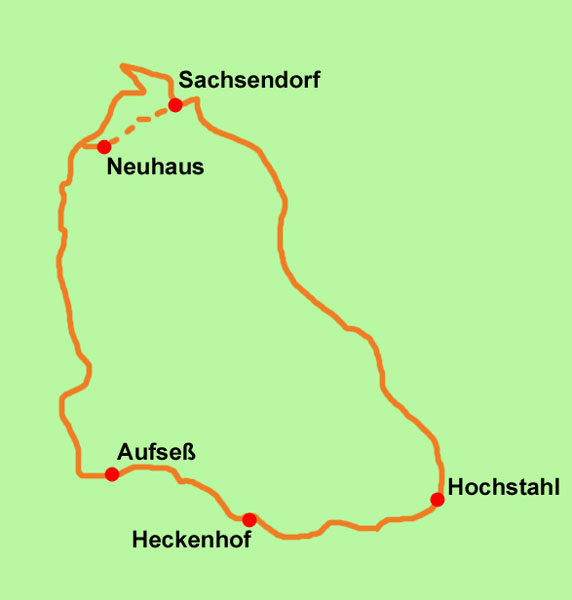 Aufsess-Wanderkarte