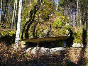 eine Felsformation im Labyrinth