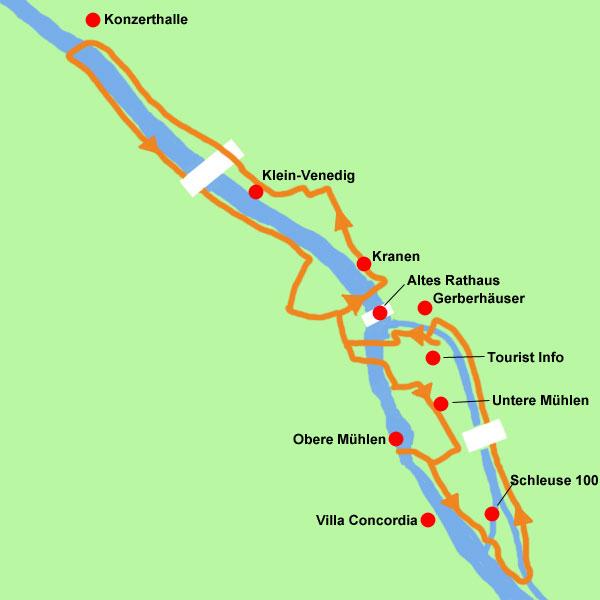Wanderkarte Flusspfad