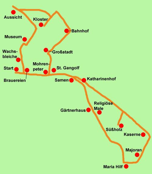 Wanderkarte Gärtnerstadt
