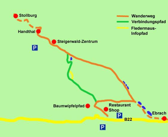 Wanderkarte Handthal