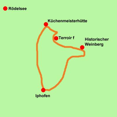 Iphofen-Wanderkarte