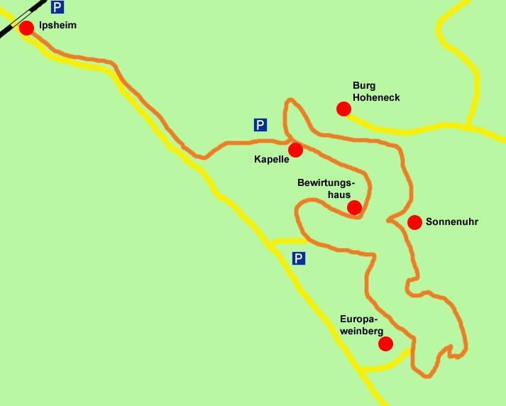 Ipsheim-Wanderkarte