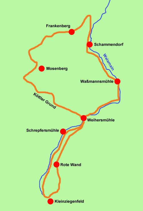 Wanderkarte Kleinziegenfelder Tal