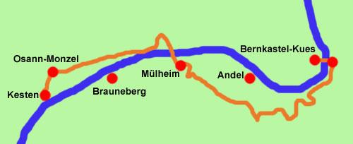 Moselsteig-Wanderkarte