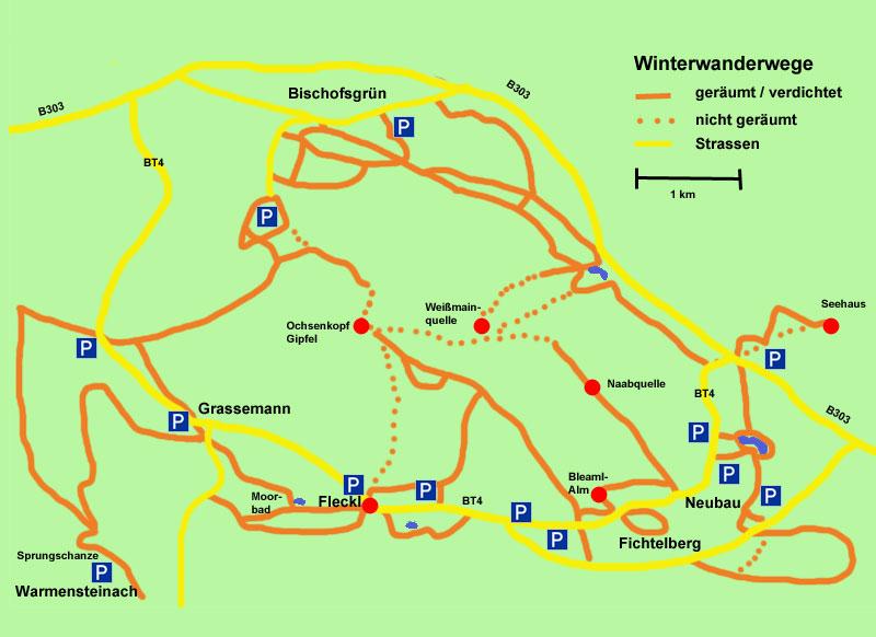 Wanderkarte Ochsenkopf