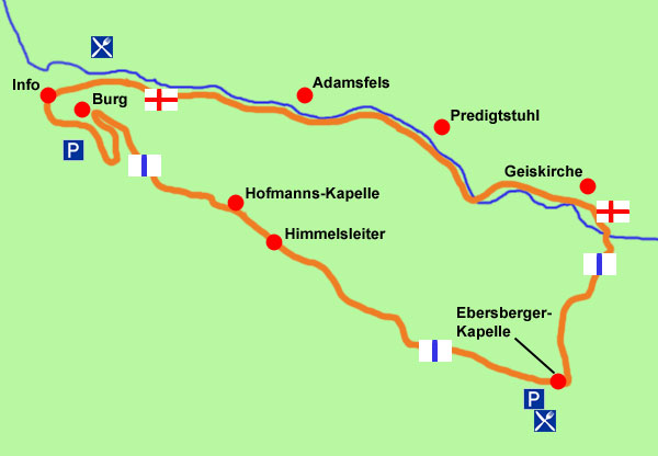 Pottenstein-Wanderkarte