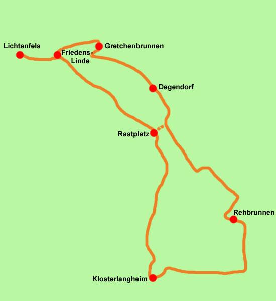 Wanderkarte Prälatenweg