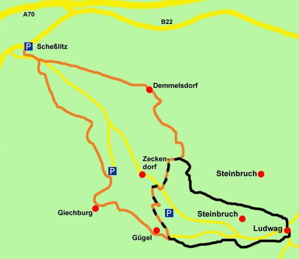 Schesslitz-Wanderkarte