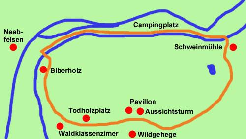 Schweinmühle-Wanderkarte