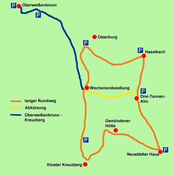 Winterwanderwege Karte