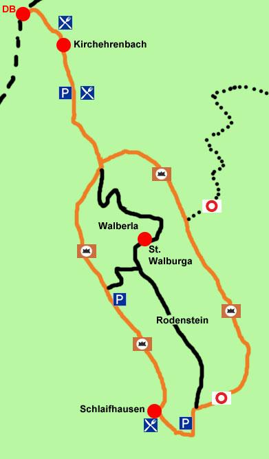 Wanderkarte Walberla