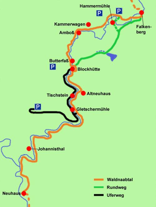 Waldnaabtal-Wanderkarte